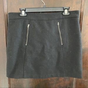 Wool winter mini skirt
